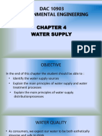 Chapter 4.1 Water Supply Treatment