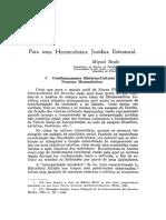 Para uma hermenêutica jurídica estrutural - Miguel Reale