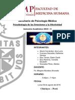 Psicobiologia de Las Emociones y La Afectividad.