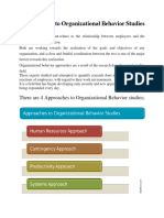4 Approaches to Organizational Behavior Studies