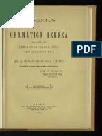 1895 Elementos de Gramatica Hebrea