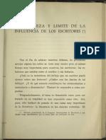 Aldous Huxley - Naturaleza y Limite de La Influencia de Los Escritores (1935)