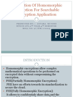 Exploration Of Homomorphic Encryption For Searchable Encryption Application.pptx