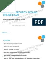 security affairs exam