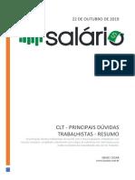 CLT Direitos Trabalhistas - Resumo Compilado e Atualizado