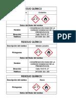 Etiquetas de Residuos Quimicos