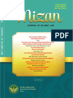 Mizan; Journal of Islamic Law. Vol 1 No 2 (2017)