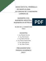 Sílabo Del Pre-upse Fisica 1-2018