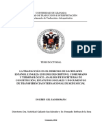 Derecho de Sociedades Español Ingles Tesis Doctoral