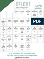 October 2019 Yoga Calendar