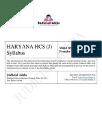 Haryana Judiciary - Syllabus & Pattern