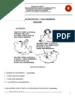Prova Port 1 Ano Fundamental 2016 - prova do colégio dos Bombeiros do estado do Ceará