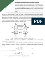 Tema Caracteristicile canalului de transmisiune în calitate de cuadripol.docx