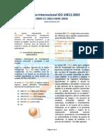 La Norma Internacional ISO 10012