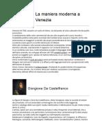 La Maniera Moderna a Venezia