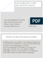 Multilingualism and Code-switching in Education