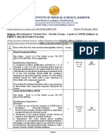Advertisement for Recruitment to Non- Faculty Grp a Posts at AIIMS, Jodhpur on DIRECT RECRUITMENT BASIS Draft (1) (1)