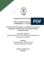 Educación Ambiental en El Proceso de Aprendizaje de Las Ciencias Naturales