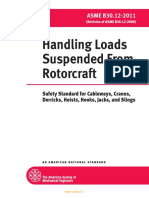 ASME STD B30.12 Handling Loads Suspended From Rotorcraft (2011)