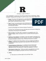 Rutgers vs. Liberty Contract