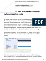 Dynamics 365 F&O - Resolving X++ and metadata conflicts when merging code