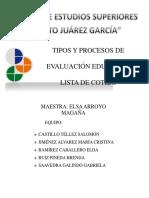 Lista de Cotejo Documento