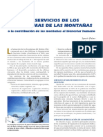 Servicios de Los Ecosistemas de Las Montanas