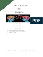 1° Trabajo Práctico de Filosofía, Camila Soto y Deborah Diaz 1° 3° ( I.S.F.D  N°106) ..docx