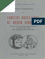 Familias Brasileiras de Origem Germanica