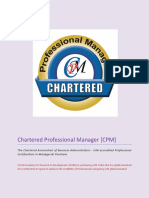 Chartered Professional Manager