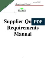 Supplier Manual Tribar