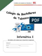Guía Didáctica Para Alumno INFORMATICA Para El Desarrollo de Competencias