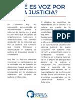 Proyecto Voz Por La Justicia