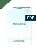 Proyecto Grupal -Primera Parte - Presupuesto Publico