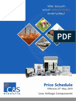 Superceding Price Schedule Wef 25 May 2019 LVC Professional