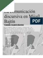 La Comunicación Discursiva en Mijaíl Bajtín