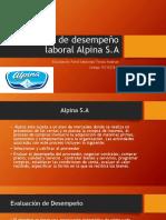 Evaluación de Desempeño Laboral Alpina S.A