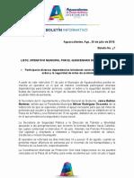 Boletín Operativo Quincenario de La Asunción