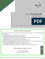 2014 Rogue Owner Manual