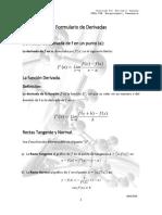 Formulario para Derivadas Matemática Universitaria