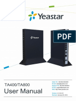 User Manual Yeastar TA400oTA800 v19 En