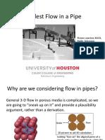 Flow in pipe