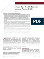 Botulinum Neurotoxin Type a-ABO (Dysport)- Clinical Indications and Practice Guide