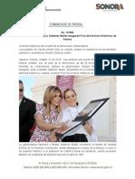 10-10-19 Gobernadora Pavlovich y Gutiérrez Müller inauguran Foro de Archivos Históricos de Sonora