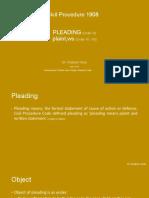 code of civil procedure 1908 pleading plaint ws