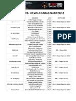 Homologadas Maratona IFCODE 2019