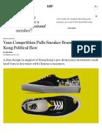 Vans Competition Gets Political