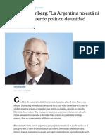 Manuel Trajtenberg_ _La Argentina No Está Ni Cerca de Un Acuerdo Político de Unidad Nacional_ - LA NACION