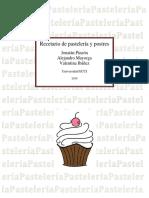 Recetario de Pastelería y Postres Entrega #2