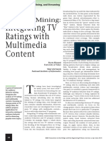Audience Behavior Mining Integrating TV Ratings With Multimedia Content